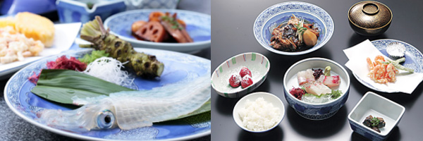 ④昼食:河太郎中州本店選べるランチ『河太郎いか活造り定食』か『河太郎荒磯定食』