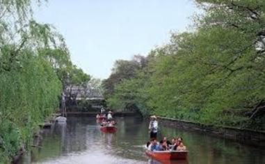 ①柳川川下り